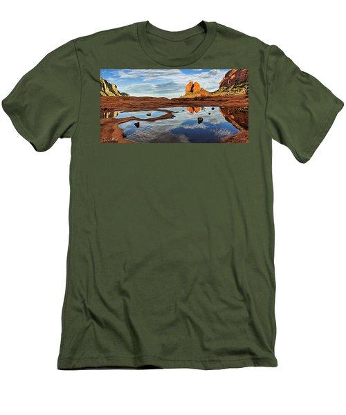 Cowpie 07-016p Men's T-Shirt (Slim Fit) by Scott McAllister