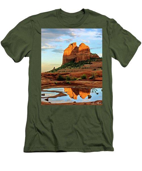 Cowpie 07-075 Men's T-Shirt (Slim Fit) by Scott McAllister
