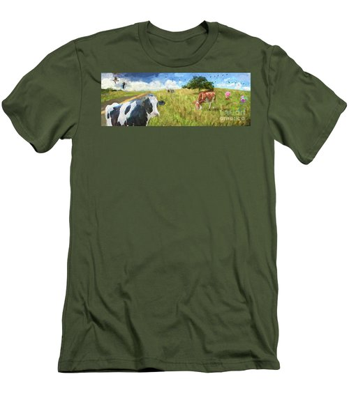 Cows In Field, Ver 2 Men's T-Shirt (Athletic Fit)