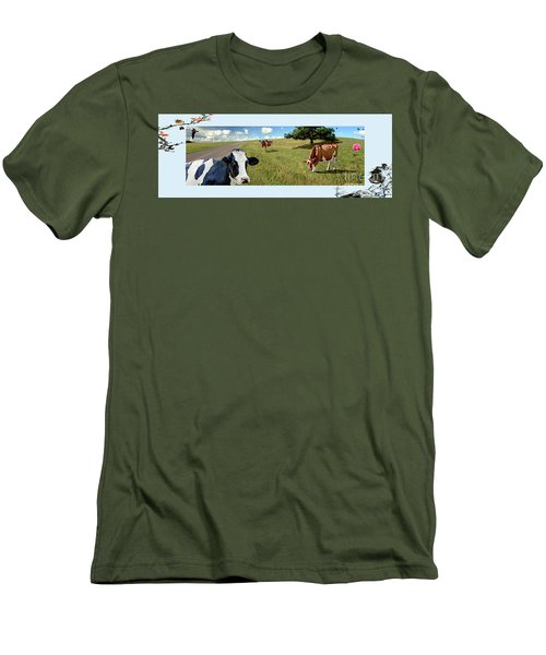 Cows In Field, Ver 4 Men's T-Shirt (Athletic Fit)