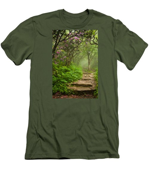 Men's T-Shirt (Athletic Fit) featuring the photograph Craggy Steps by Joye Ardyn Durham