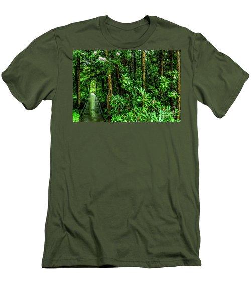 Cranberry Glades Boardwalk Men's T-Shirt (Athletic Fit)