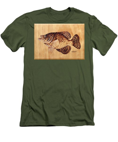 Crappie Men's T-Shirt (Slim Fit) by Ron Haist