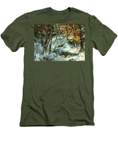 Creek In The Cold Men's T-Shirt (Athletic Fit)