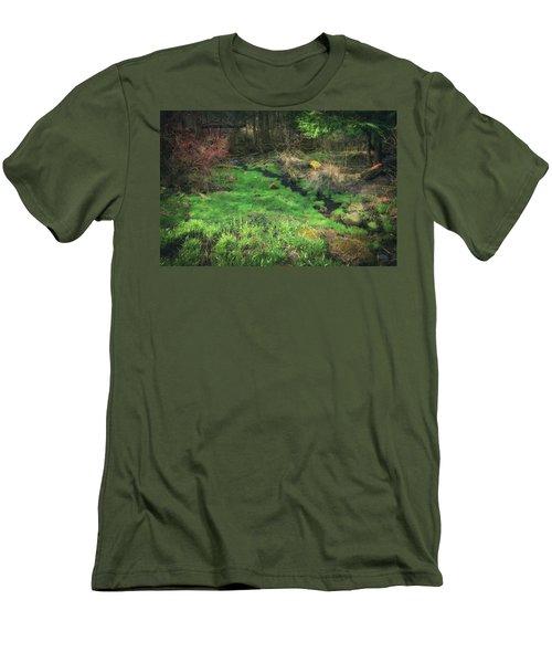 Creek - Spring At Retzer Nature Center Men's T-Shirt (Slim Fit) by Jennifer Rondinelli Reilly - Fine Art Photography