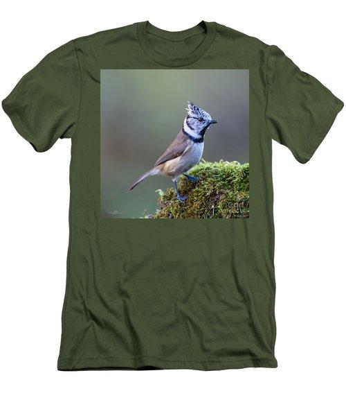 Crested Tit Men's T-Shirt (Slim Fit) by Torbjorn Swenelius