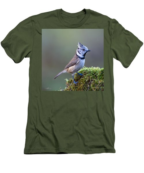 Crested Tit Men's T-Shirt (Athletic Fit)