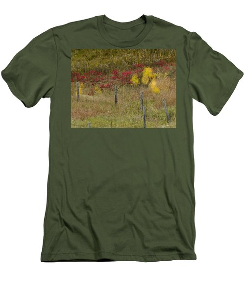 Crimson And Gold Men's T-Shirt (Slim Fit) by Tara Lynn