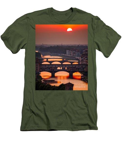 Crimson River Men's T-Shirt (Slim Fit) by Giuseppe Torre