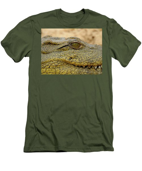 Men's T-Shirt (Slim Fit) featuring the photograph Croc by Betty-Anne McDonald