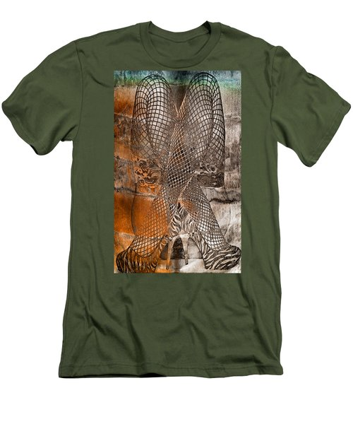 Cross Walk Men's T-Shirt (Slim Fit) by Greg Sharpe