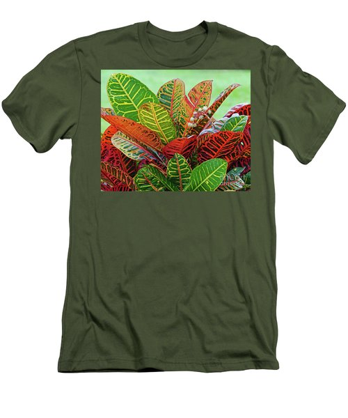 Colorful Croton Bloom Men's T-Shirt (Athletic Fit)