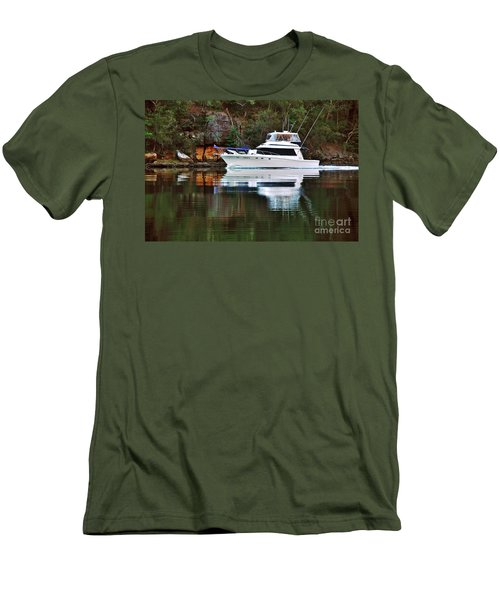 Men's T-Shirt (Athletic Fit) featuring the photograph Cruising The River By Kaye Menner by Kaye Menner