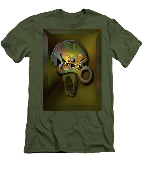 Men's T-Shirt (Slim Fit) featuring the digital art Crushing Affinity by Steve Sperry