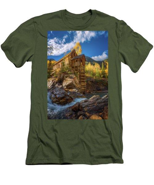 Crystal Mill Morning Men's T-Shirt (Slim Fit) by Darren White