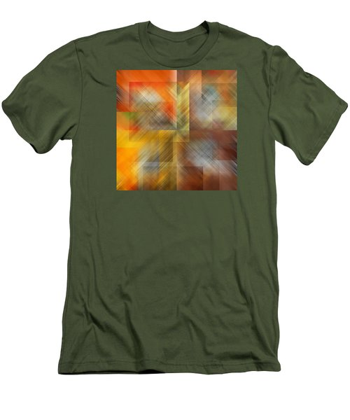 Men's T-Shirt (Slim Fit) featuring the photograph Cubic Space by Mark Greenberg