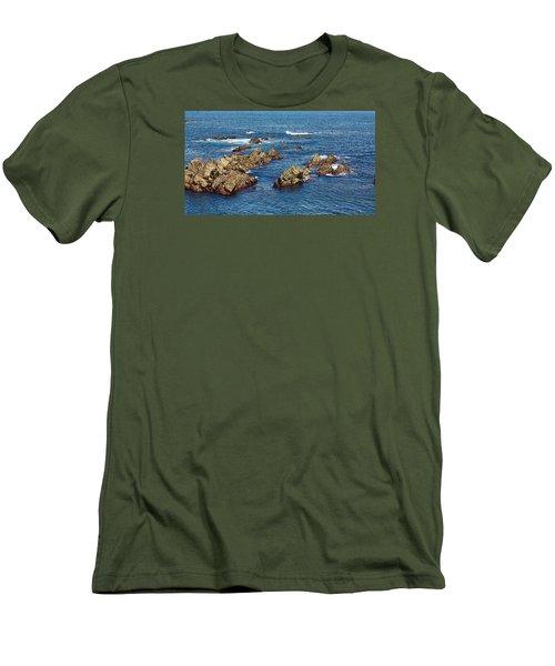 Men's T-Shirt (Slim Fit) featuring the photograph Cudillero by Angel Jesus De la Fuente