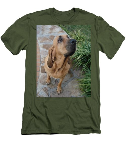 Cujo Looking At A Butterfly Men's T-Shirt (Slim Fit) by Val Oconnor