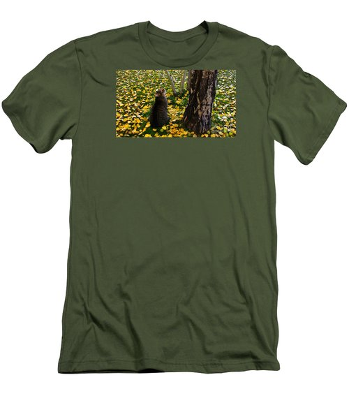 Curious  Men's T-Shirt (Slim Fit) by Janice Westerberg