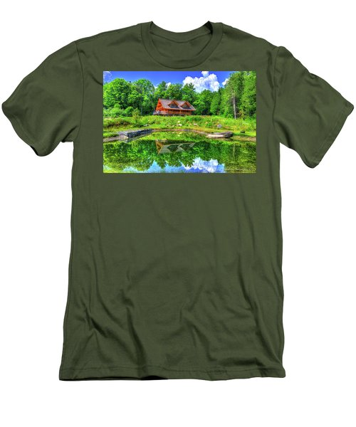 Curtis Vance Memorial Apple Orchard Men's T-Shirt (Slim Fit) by Jim Boardman