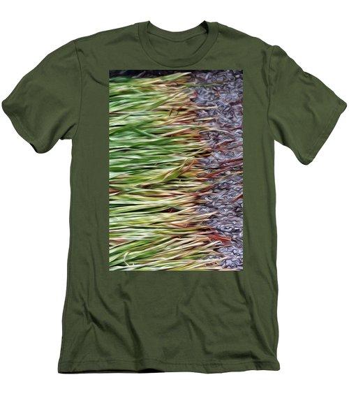 Cut Grass And Pebbles Men's T-Shirt (Athletic Fit)