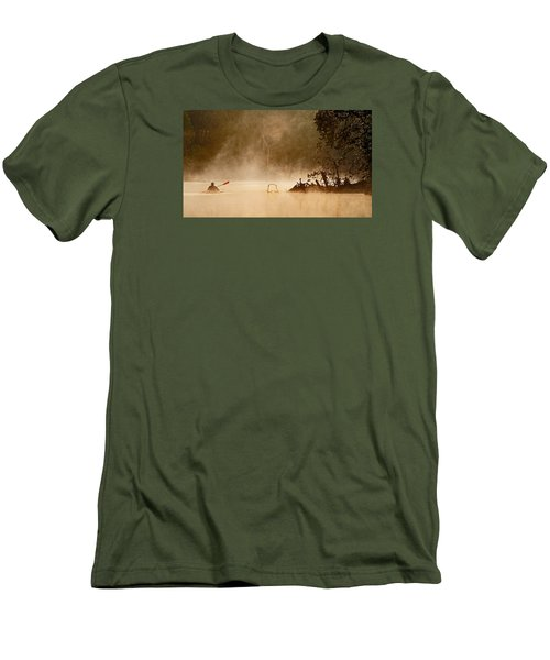 Cutting Through The Mist Men's T-Shirt (Slim Fit) by Robert Charity