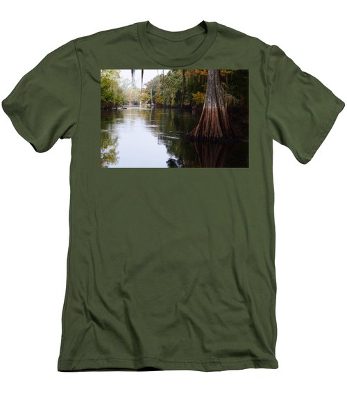 Cypress High Water Mark Men's T-Shirt (Slim Fit) by Warren Thompson