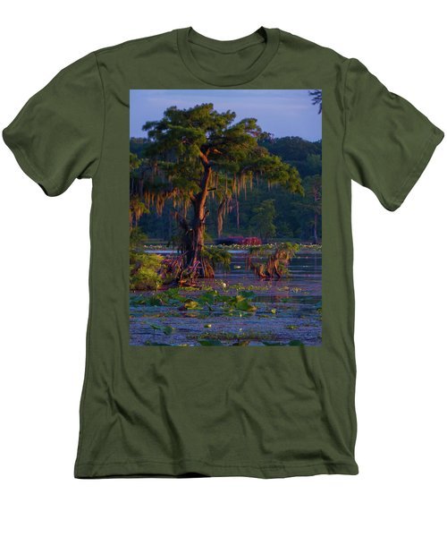 Cypress In The Sunset Men's T-Shirt (Slim Fit) by Kimo Fernandez