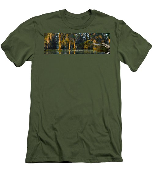 Cypress Island Gator Men's T-Shirt (Slim Fit) by Kimo Fernandez