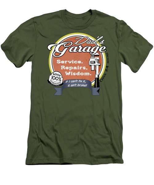 Dad's Garage Wisdom Men's T-Shirt (Athletic Fit)