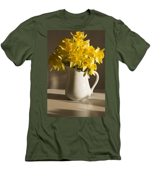 Daffodil Filled Jug Men's T-Shirt (Athletic Fit)