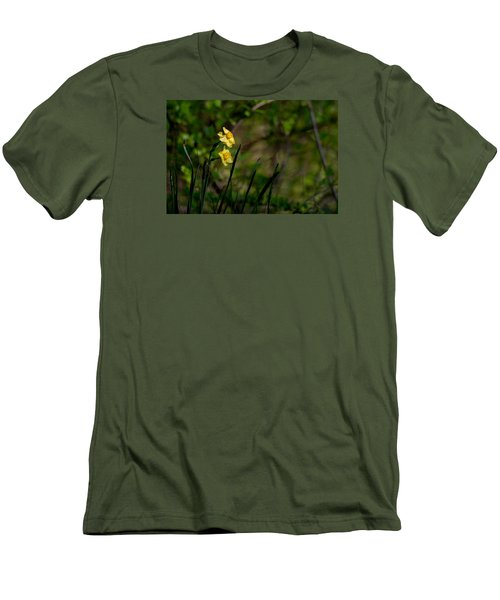 Daffodils Among The Green Men's T-Shirt (Athletic Fit)