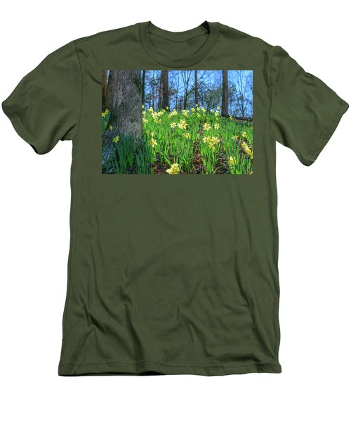 Daffodils On Hillside 2 Men's T-Shirt (Athletic Fit)