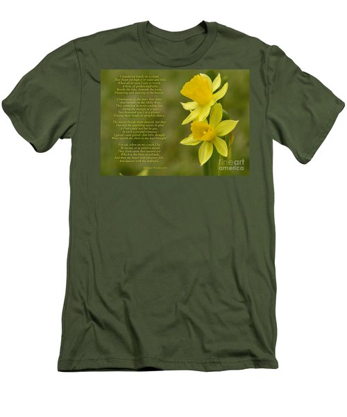 Daffodils Poem By William Wordsworth Men's T-Shirt (Athletic Fit)