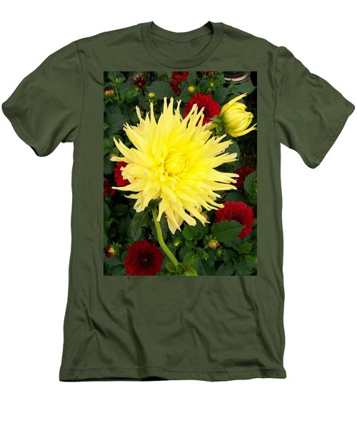Men's T-Shirt (Slim Fit) featuring the photograph Dahlia's by Sharon Duguay