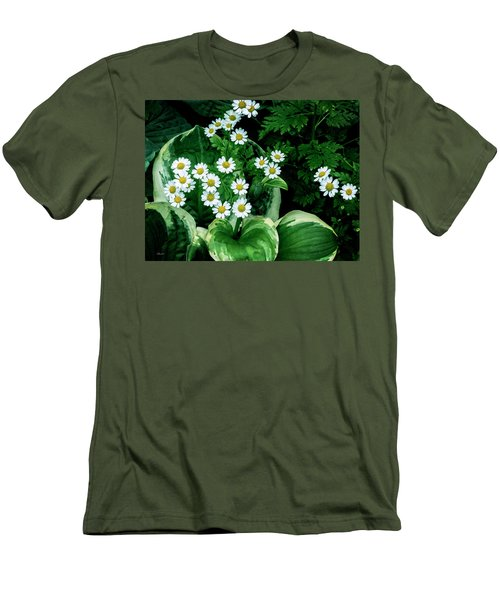 Daisies And Hosta In Colour Men's T-Shirt (Athletic Fit)