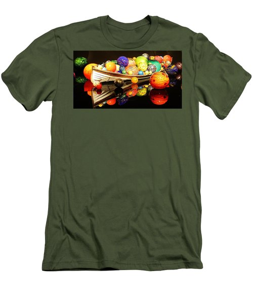 Glass Sculpture Boat Men's T-Shirt (Slim Fit) by Bruce Bley