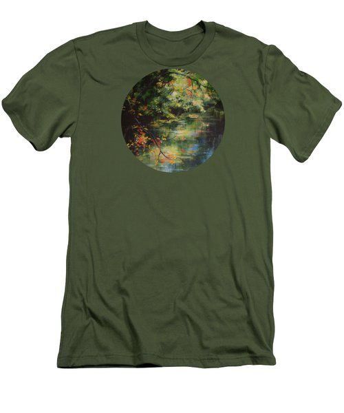 Dance Of Color And Light Men's T-Shirt (Slim Fit) by Mary Wolf