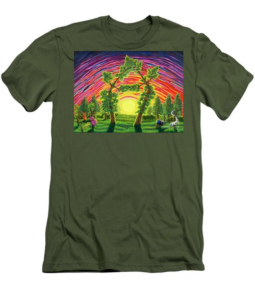 Dance Of Sunset Men's T-Shirt (Athletic Fit)