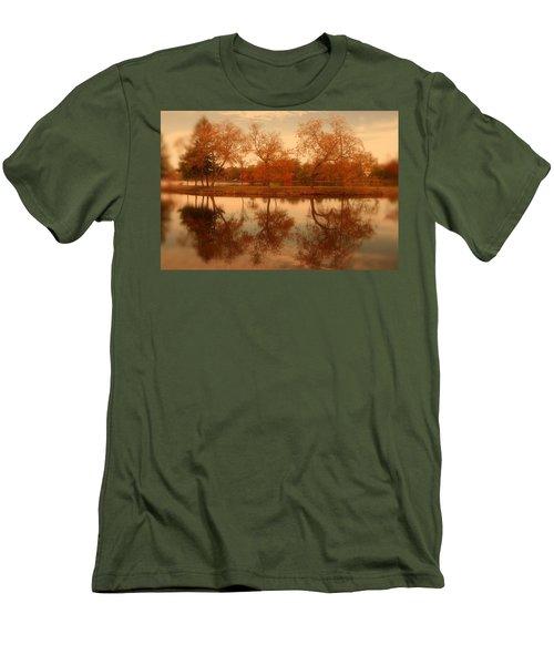 Dancing Trees - Lake Carasaljo Men's T-Shirt (Athletic Fit)