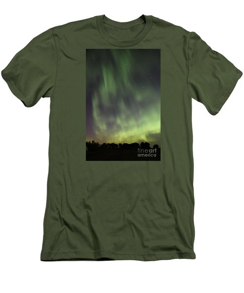 Men's T-Shirt (Slim Fit) featuring the photograph Dancing With The Dipper by Larry Ricker