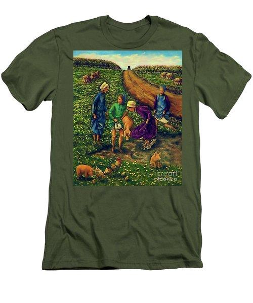 Dandy Day Men's T-Shirt (Slim Fit) by Linda Simon