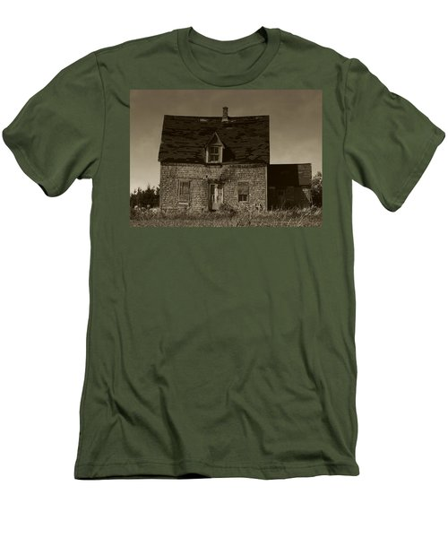 Men's T-Shirt (Slim Fit) featuring the photograph Dark Day On Lonely Street by RC DeWinter