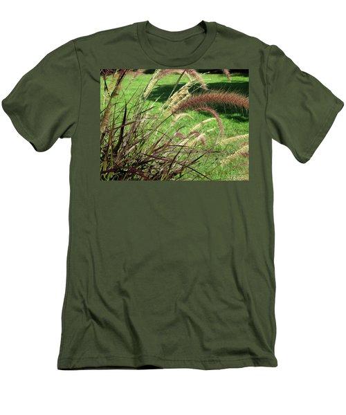 Dark Feather Grass Men's T-Shirt (Slim Fit) by Michele Wilson