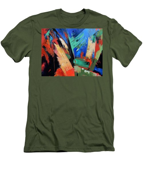 Men's T-Shirt (Slim Fit) featuring the painting Darkness And Light by Gary Coleman