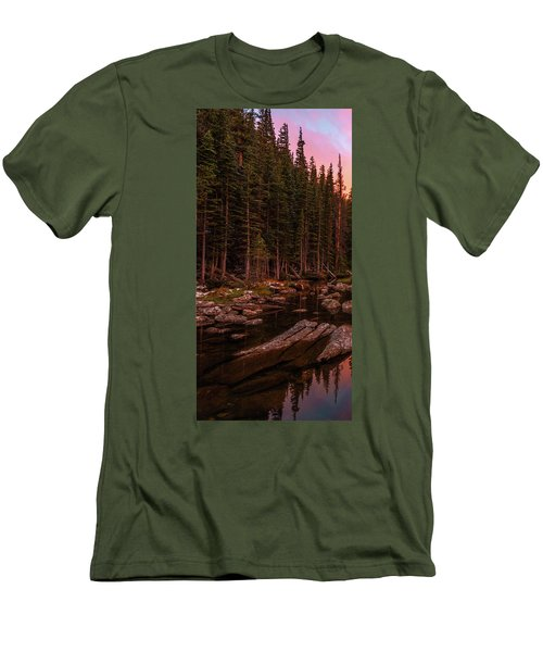 Men's T-Shirt (Athletic Fit) featuring the photograph Dawn Of Dreams Triptych Left by Dustin LeFevre