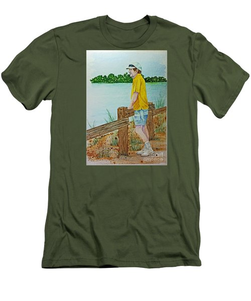 Men's T-Shirt (Slim Fit) featuring the painting Daydreaming by Terri Mills