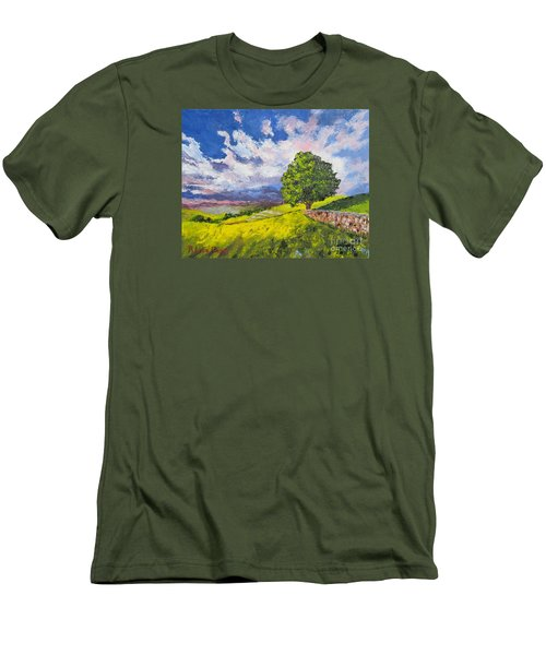 Dazzling Sky Pallet Knife Men's T-Shirt (Slim Fit) by Lisa Boyd