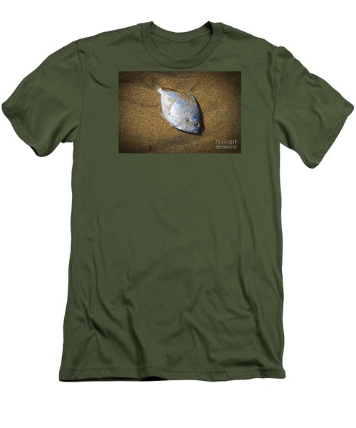 Dead Fish On The Beach Men's T-Shirt (Slim Fit) by Perry Van Munster