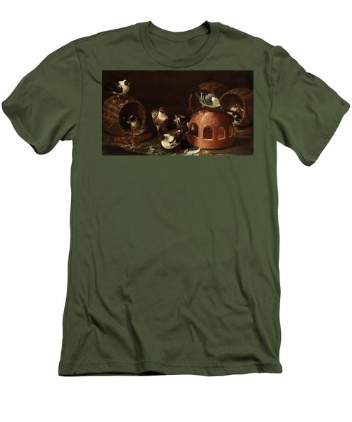 Deaf Between Feed Trough And Baskets Men's T-Shirt (Athletic Fit)